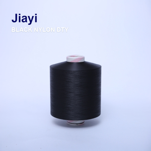 Black Color Durable Nylon Drawn Textured Yarn